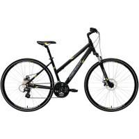 Bicicleta Merida Crossway 15 Md - Aro 700 - Freio A Disco Mecânico - Quadro 54Cm - 24 Marchas - Preto/Amarelo