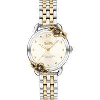 Relógio Coach Feminino Aço Prateado E Dourado - 14503212