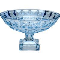 Centro De Mesa Diamant Com Pã©- Cristal & Azul- 19,5Xrojemac