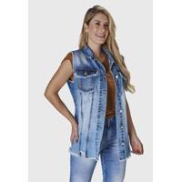 Colete Jeans Hno Jeans Azul - Feminino