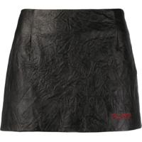 Philosophy Di Lorenzo Serafini Textured Mini Skirt - Preto