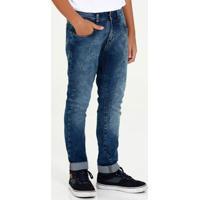Calça Juvenil Jeans Marmorizada Marisa