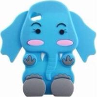 Capa Case Para Iphone 4/4S Silicone Elefante Azul