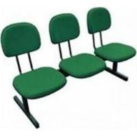 Longarina Secretária 3 Lugares Em Tecido Verde Mq05 Pethiflex