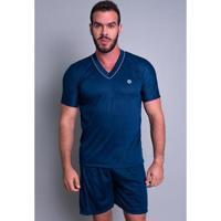 Pijama Mvb Modas Curto Verão Masculino - Masculino-Azul