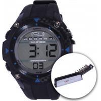 Relógio Digital Speedo 81072G0 Com Kit De Ferramentas - Masculino - Preto/Azul