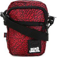 Bolsa Ecko Shoulder Masculina - Masculino-Vermelho