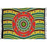 Canga Shopping Bali Mandala Golfinho Ethnic - Feminino-Amarelo