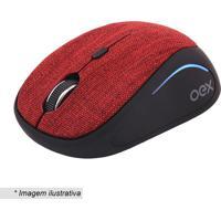 Mouse Sem Fio Tiny- Preto & Vermelho- 4X6X10Cm- Newex