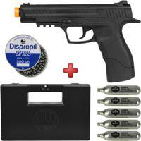 Pistola De Pressão Co2 Daisy 415 4.5Mm + Esferas De Aço Dispropil 500Un. + 5 Cilindros Co2 + Maleta - Unissex