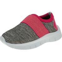 Tênis Joggng Joys Shoes Calce Fácil Cinza/Rosa