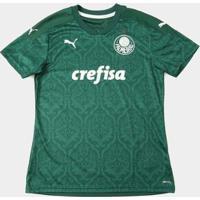Camisa Palmeiras I 20/21 S/N° Torcedor Puma Feminina - Feminino-Verde