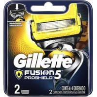 Lâmina De Barbear Gillette Fusion Proshield 2 Peças - Unissex-Cinza