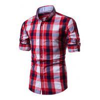 Camisa Xadrez Baytown Masculina - Vermelho E Banco