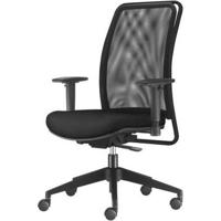 Cadeira Soul Presidente Assento Crepe Preto Base Nylon Piramidal - 54246 - Sun House