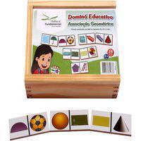 Dominó Educativo Associaçáo Geométrica Jogo Com 28 Peças - Fundamental