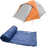 Barraca Camping Azteq Katmandu 3/4 Pessoas + Colchonete Camp Mat