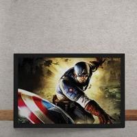 Quadro Decorativo Capitao America Marvel 25X35