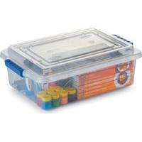 Caixa Organizadora Plástico Com Trava 29,3X41X13,6Cm 10L