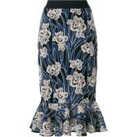 Three Floor Saia 'Valentina' Floral - Azul