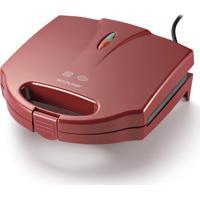 Sanduicheira E Grill 750W Vermelha 127V - Multilaser