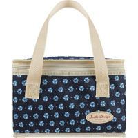 Bolsa Térmica- Azul Marinho & Bege- 22X14X14Cm- Jacki Design