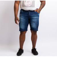 Bermuda Plus Size Jeans Masculina Lavagem Escura