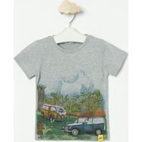 Camiseta Mescla Carro- Cinza & Verdeoliver