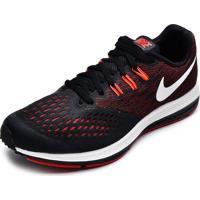Tênis Nike Zoom Winflo 4 Preto/Vermelho/Branco