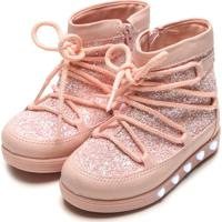 Bota Pampili Infantil Glitter Rosa