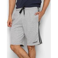 Short Moletom Adidas Essentials 3-Stripes Masculino - Masculino-Cinza