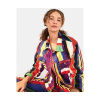 Jaqueta Sarja Listra Lulu Multicolorido