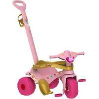 Triciclo Infantil Bandeirante Com Empurrador - Unissex-Rosa