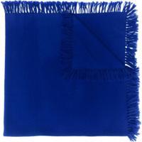 Isabel Marant Cachecol De Tricô Zila Com Franjas - Azul