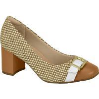 Sapato Com Fivela- Bege- Modaremodare