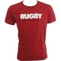 Camiseta Rugby Vermelho