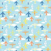 Papel De Parede Quartinhos Adesivo Texturizado Infantil Aviões 2,70X0,57M