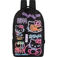 Mochila Hello Kitty Juvenil Média Xeryus (Preto, M)
