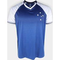 Camiseta Cruzeiro Care Masculina - Masculino-Azul+Branco