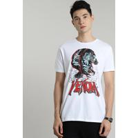 Camiseta Masculina Venom Manga Curta Gola Careca Off White