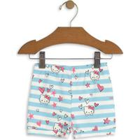 Short Hello Kitty® Listrado- Azul Claro & Brancohello Kitty