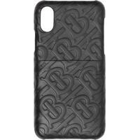 Burberry Capa Para Iphone X/Xs Monogramada - Preto