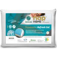 Travesseiro Perfil Médio Alto Nap Refresh Gel Capa Repelente A Água