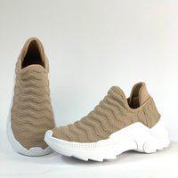 Tênis Sneaker Via Salto Bege