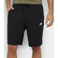 Bermuda Nike Nsw Club Jsy Masculina - Masculino-Preto+Branco
