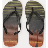 Chinelo Coqueiro Texturizado- Preto & Laranjacalvin Klein