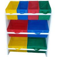 Organizador Organibox De Brinquedo Colorido Mã‰Dio - Branco - Dafiti
