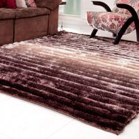 Tapete Silk Shaggy 3D Bege Degradê 1,40M X 2,00M