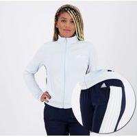 Agasalho Adidas Team Sports Feminino Azul