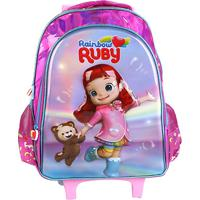 Mochila Infantil Escolar Pacific De Rodinhas Rainbow Ruby Pacific-981D01 - Feminino